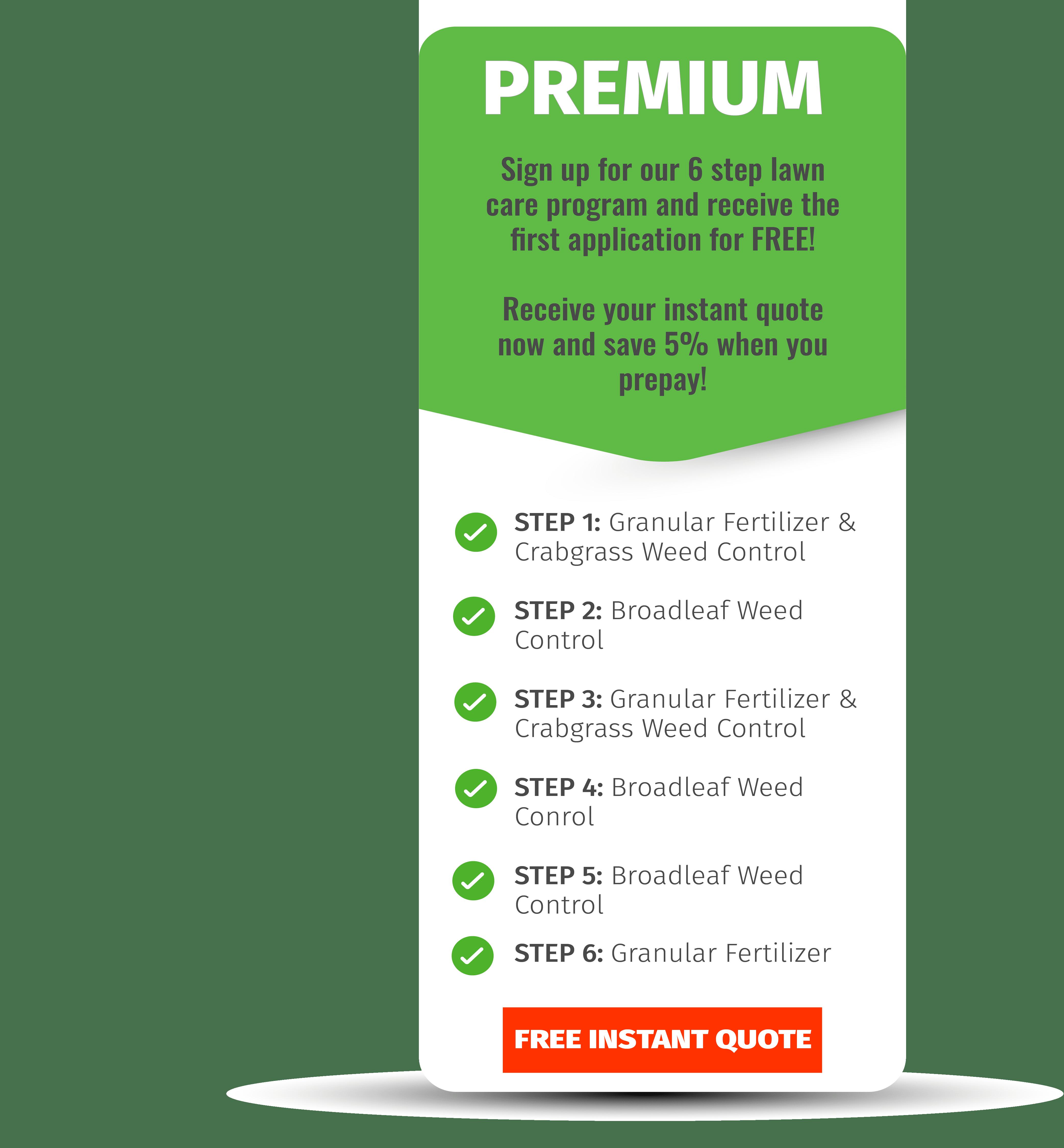 premium lawn care program